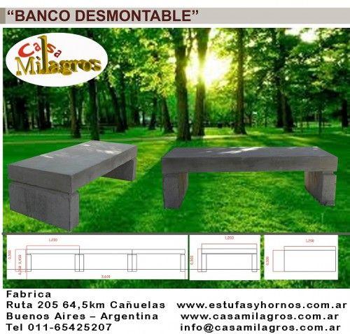 Salamandras-estufas-hogares-hornos a leña y Muebles para jardin: Bancos De Plaza,bancos Para Plazas,bancos De Cemento,mobiliario Urbano,mesas,banquetas,sillas,alumin